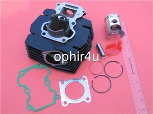 Cylinder Piston Gasket Kit 50mm Bore Replace Suzuki AX100 2 Stroke Engine 100cc