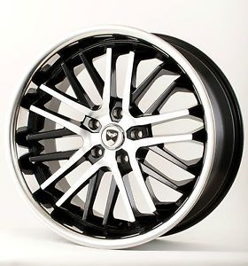 "20"" Black w Chrome Lip Wheels Rims Nissan Altima Maxima Murano Quest Rogue"