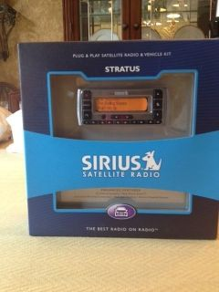 New in Box Sirius Stratus SV3 TK1 Plug Play XM Satellite Radio Vehicle Car Kit