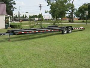 2 Car Trailer 32ft 2007 Model Good Tires Nice Clean Trailer Hauler Bumper Pull