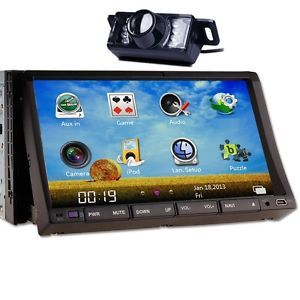 "Flip 7"" 2 DIN in Dash Car DVD Player iPod Radio TV Bluetooth Ready Backup Camera"