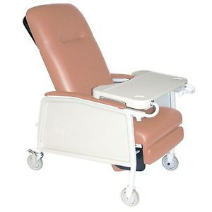 Drive Medical 3 Position Geri Chair Recliner Lift Chair 250lb Cap Rosewood