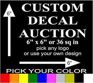 "6"" Custom Special Order Decal Sticker Vinyl Car Window Cell Laptop Phone"