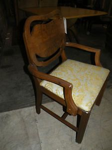 Antique Uphostered Art Deco Bedroom Vanity Chair Bench Dining Chair