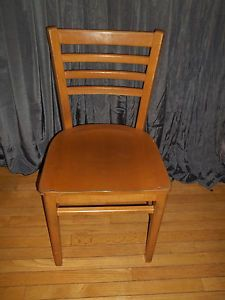 Vintage 1968 Buckstaff Wood Ladder Back Chair School Dining Restaurant Large Qty