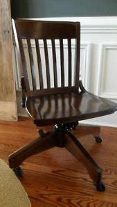 Pottery Barn Swivel Desk Chair Espresso Stain