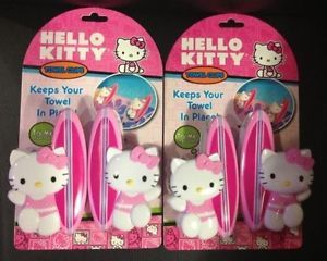 New 2 Sets Hello Kitty Boca Clips Towel Chair Clip Great for Pool Beach Cruise