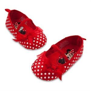 Minnie Mouse Red Polka Dot Dress Costume Shoes for Baby Toddler Sz 5 6
