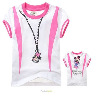 2013 Sale 2 3 4 5 6 7 8 Toddler Kids Minnie Girls Short Sleeve Tee Shirt FX89102