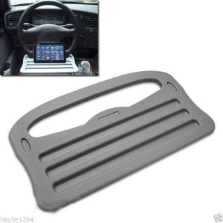Gray Steering Wheel Laptop Tablets iPad Tray or Table Car SUV Travel Desk Holder