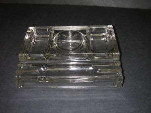Art Deco Sengbusch No 310 Glass Inkwell Pen Desk Tray