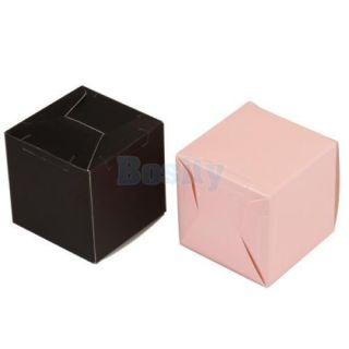1 Pair Bride Bridegroom Wedding Favor Candy Gift Boxes Ivory Board