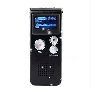 Good LCD 8GB USB 650Hr Digital Audio Voice Recorder Dictaphone  Player Black