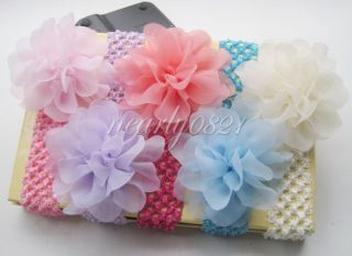 5pcs Baby Girls Toddler Big Flower Headband Headwear Hair Accessories Band Bow