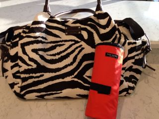 VHTF Kate Spade Brown Cream Zebra Stevie Baby Bag Purse MSRP $275