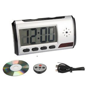 HD Video DVR Digital Alarm Clock Nanny Camera Recorder Motion Detector DV Black