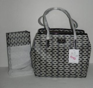 Kate Spade Harmony Baby Diaper Bag Signature Black Cream Tote