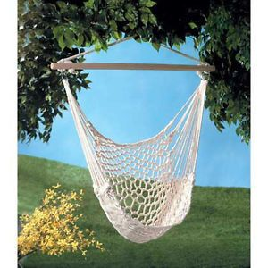 Swinging Chair Cotton Rope Porch Tree Swing Hammock Yard Garden Best Seller