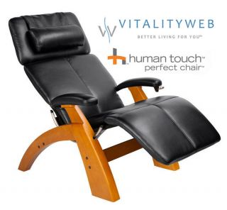 New Human Touch Silhouette PC 75 Perfect Chair 075 Maple Premium Black Leather