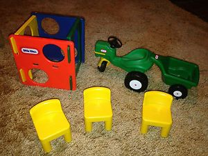 Little Tykes Doll House Furniture Tractor Chairs Jungle Jim Cube
