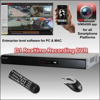 Hikvision 8 CH D1 DVR with HDMI 500GB Hard Drive Fitted for CCTV System Kit
