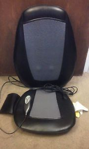 Homedics SBM 200H 1 Shiatsu Massage Chair Seat Cushion Rotating Massager w Heat