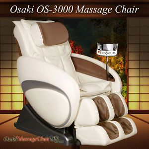 Cream Osaki OS3000 Zero Gravity Deluxe Massage Chair Pain Relief Shiatsu