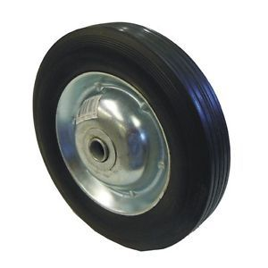 "10"" inch Replacement Solid Hard Rubber Tire Wheel and Rim for Dolly Hand Cart"