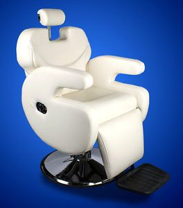 New Mtn All Purpose Barber Salon Spa Beauty Hydraulic Recline Chair Lounge White