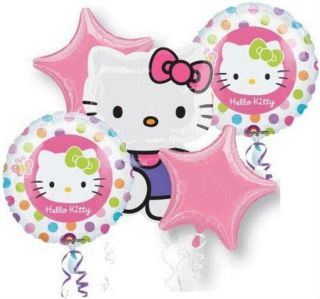 Hello Kitty Birthday Party Balloons Bouquet Supplies Decorations