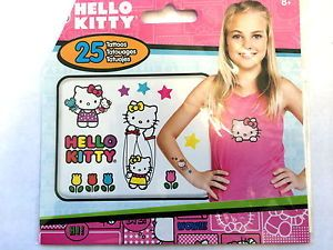 25 Hello Kitty Sanrio Tattoos Teacher Supply Party Favors Birthday