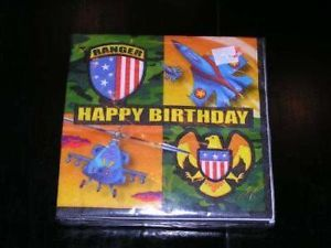 American Heroes Military Party Supplies Small Napkins Army Airforce Marines Camo