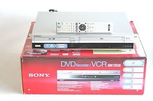 Sony Rdr VX530 DVD Recorder Burner Player VCR Combo w Remote Box
