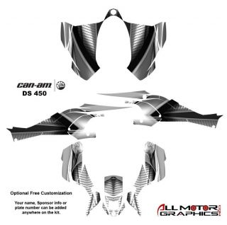 Can Am DS450 BRP Graphics Decal Sticker Kit 7900 Metal