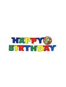 Curious George Birthday Party Supplies Happy Birthday Decoration Banner