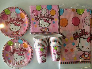 Hello Kitty Balloon Dreams Birthday Party Supply Pack for 16