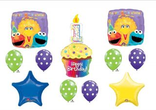 Sesame Street 1st First Birthday Party Balloons Decorations Supplies Big Bird