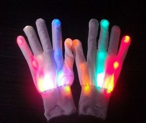 1 Pair Multi Color Flashing LED Light Up Gloves Mitts
