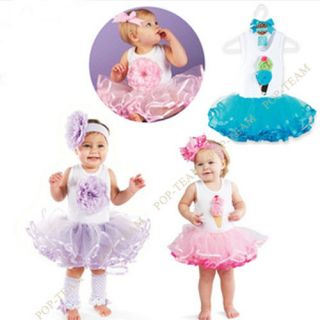 Girls Kids Skirt Party Dance Tutu Dress Pettiskirt 1 5Y TYB4