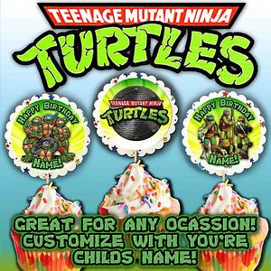 "Teenage Mutant Ninja Turtle 2 5"" Cupcake Toppers Supplies Favors Birthday Party"