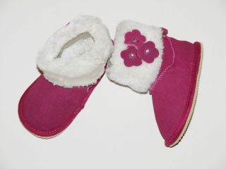 The Children's Place Infant Girl's Lil' Snuggle Faux Fur Suede Boot 6 12 MO New
