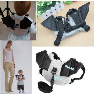 Hot Baby Toddlers Kids Children Bat Wings Anti Lost Backpack Bag Safety Harness