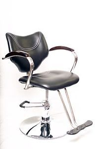Wood Arm Hydraulic Barber Chair Styling Salon Beauty Equipment UG844