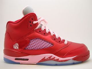 440892 605 Girls Youth Air Jordan 5 V Retro GS Gym Red ion Pink Valentine Day