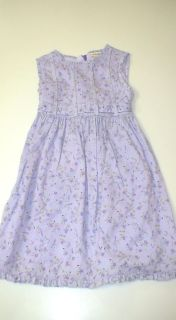 Laura Ashley Sleeveless Lavender Floral Dress Girls Approximate Size 4T