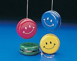 12 Large Smile Happy Face Metal Yoyos Kids Birthday Party Favors Toys Treats
