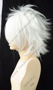 COS Wigs New Short White Cosplay Party Anti Alice Wig