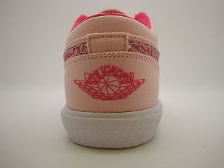 487300 607 Girls Youth Air Jordan Retro V 1 Storm Pink Spark White Sneakers