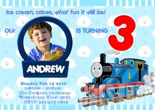 Thomas The Train Tank Birthday Party Invitations Cards Invite Boys Party Supply