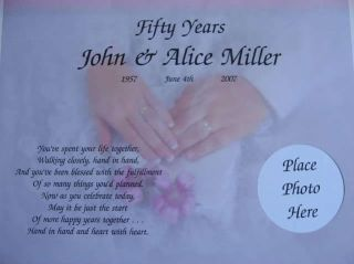 Wedding Anniversary Gift Personalized Poem 1st 5th 10th 20th 25th 50th Any